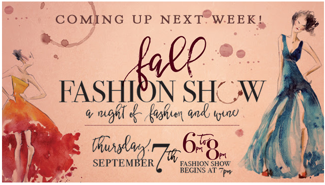 Join us for a night of fashion & wine!   Preview local boutiques' fall fashion looks & pamper yourself with local salons & spas while sipping on a glass of Folino Estate wine.  A portion of the proceeds will be donated to Dress for Success of Allentown, an organization dedicated to promoting economic independence of women who are transitioning back into the local workforce!