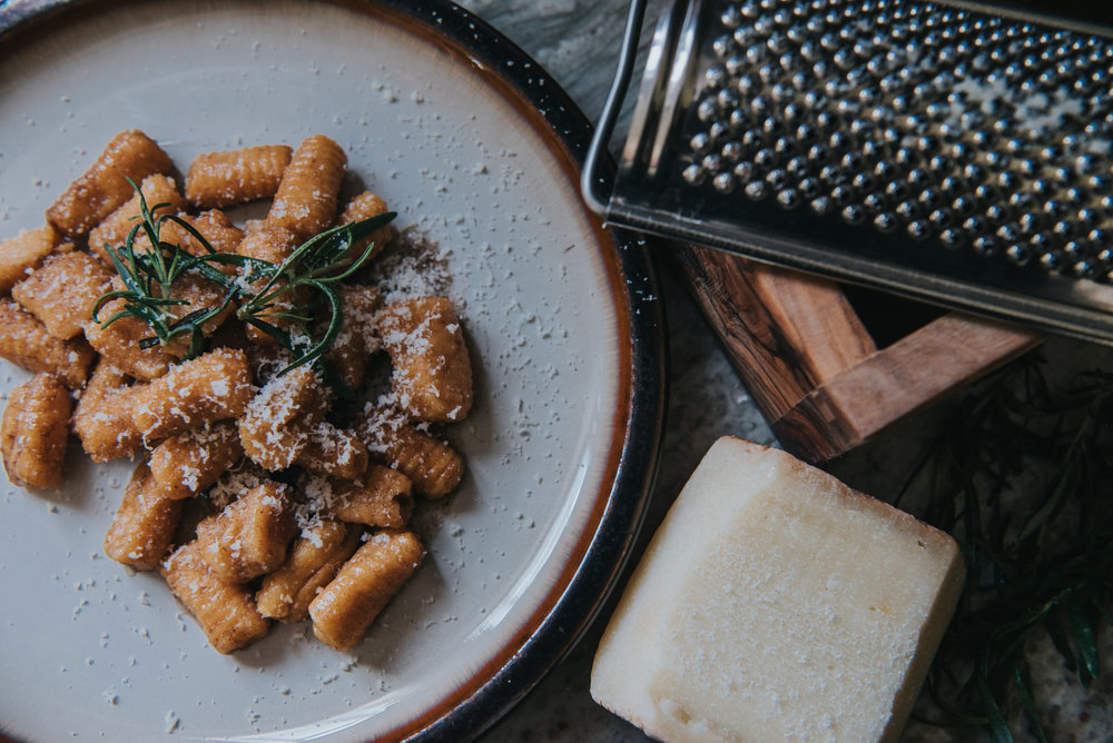 Sweet Potato Gnocchi - with Rosemary Brown Butter Sauce12 servings | Cook time: 10 minutes