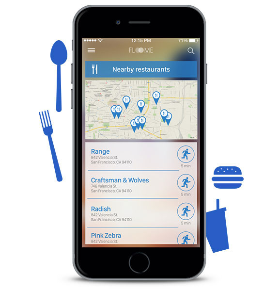 Eat something Looking for something to eat to lower your BAC? With the app you can find restaurants nearby