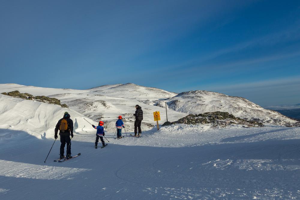 Luftige svev i alpinbakken på Oppdal
