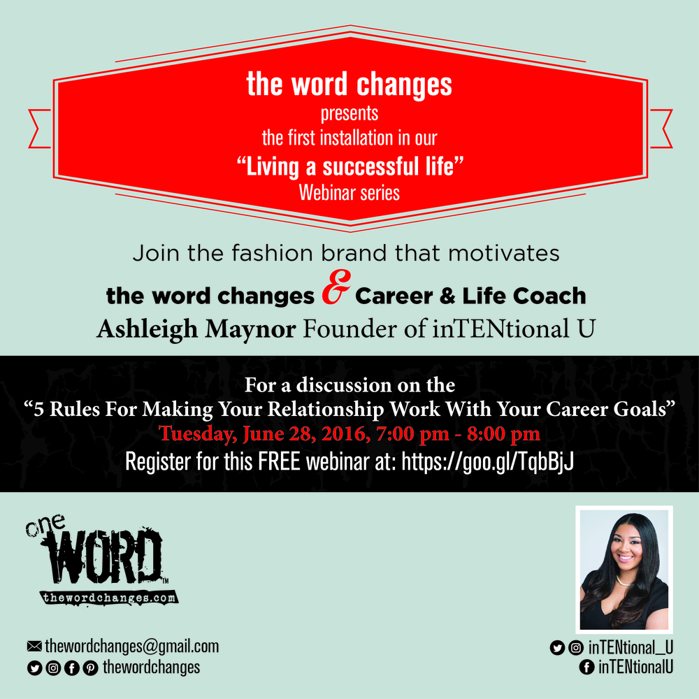 The Word Changes Webinar Series