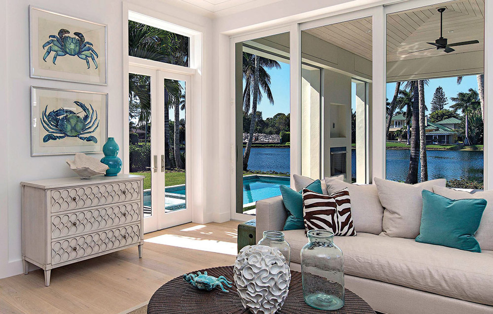 Old Naples Lakefront Contemporary Bay Design Store
