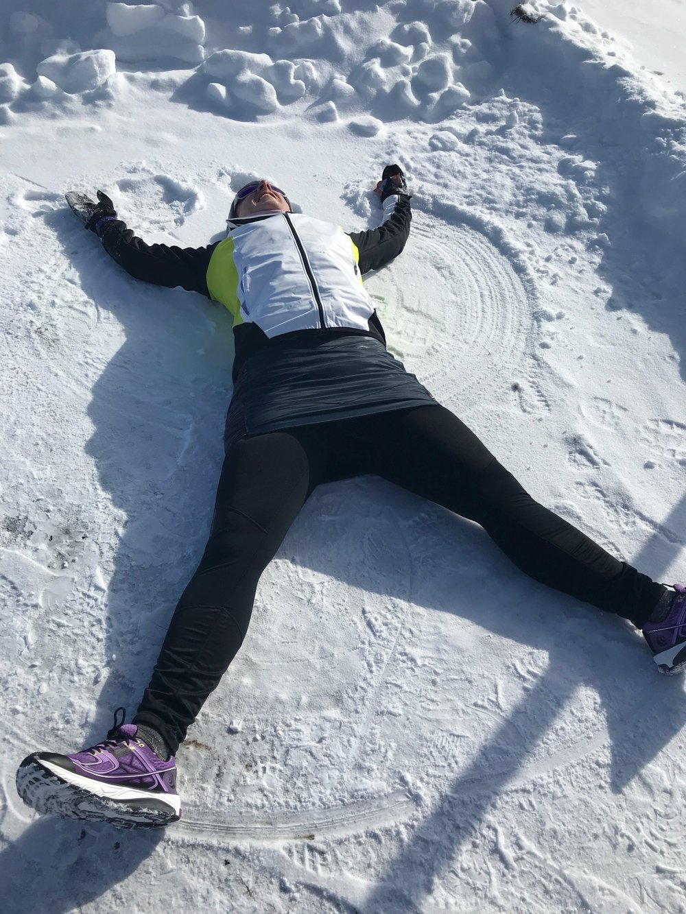 never too old to make snow angels with your mom