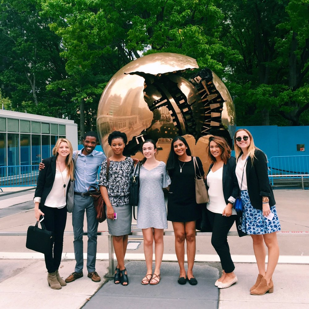 FAQs brought to you by the 2016 TurboVote Summer Associate Team, pictured here in front of the United Nations.