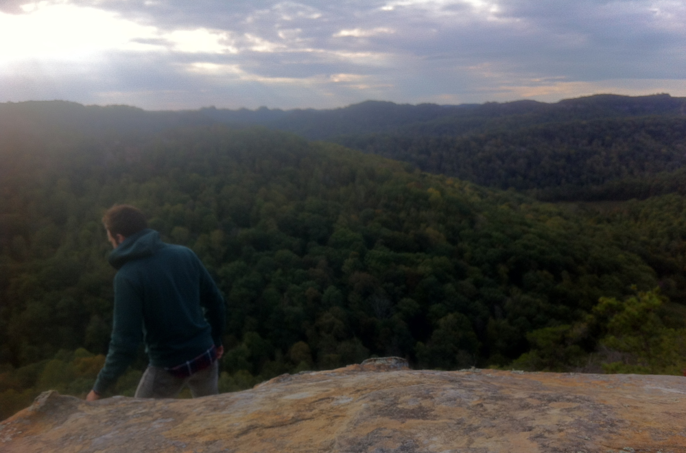 Me on a ridge at Red River Gorge in Kentucky. Taken by Brooke not long after we met.