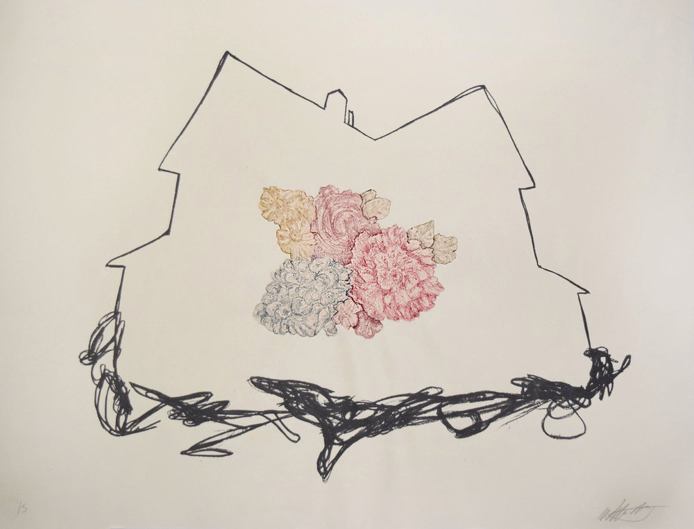 Where I Want to Be     Intaglio, screenprint, chine-collé - edition of 5  26 x 20 in.   2014