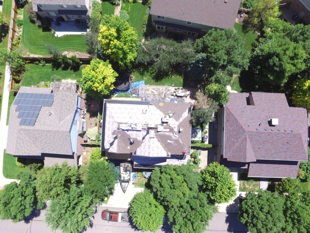 The CO•PRO drone gives our clients a detailed look at their roof installation throughout the process.