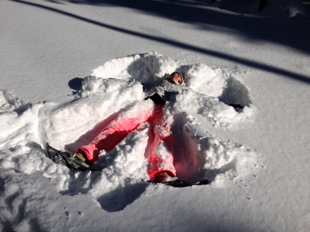 ...making snow angels in the fresh powder!