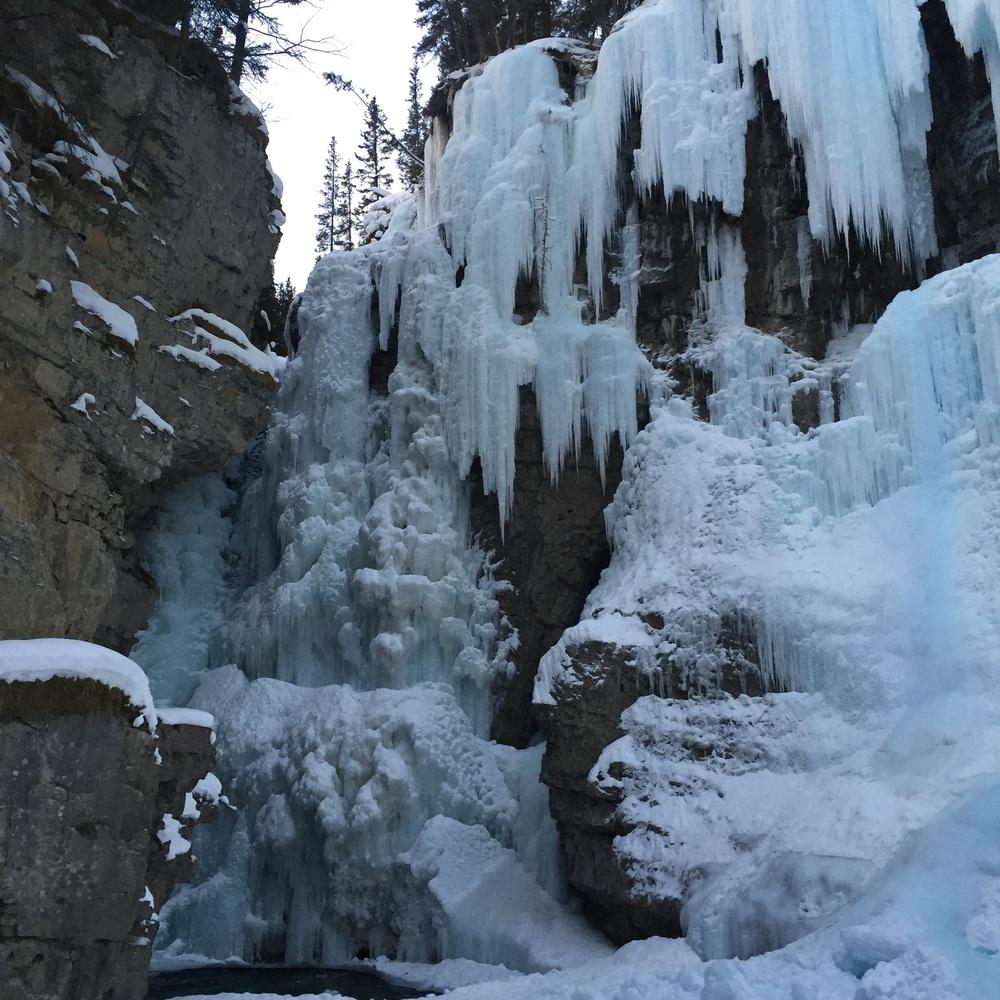 ...the beautiful frozen upper falls!