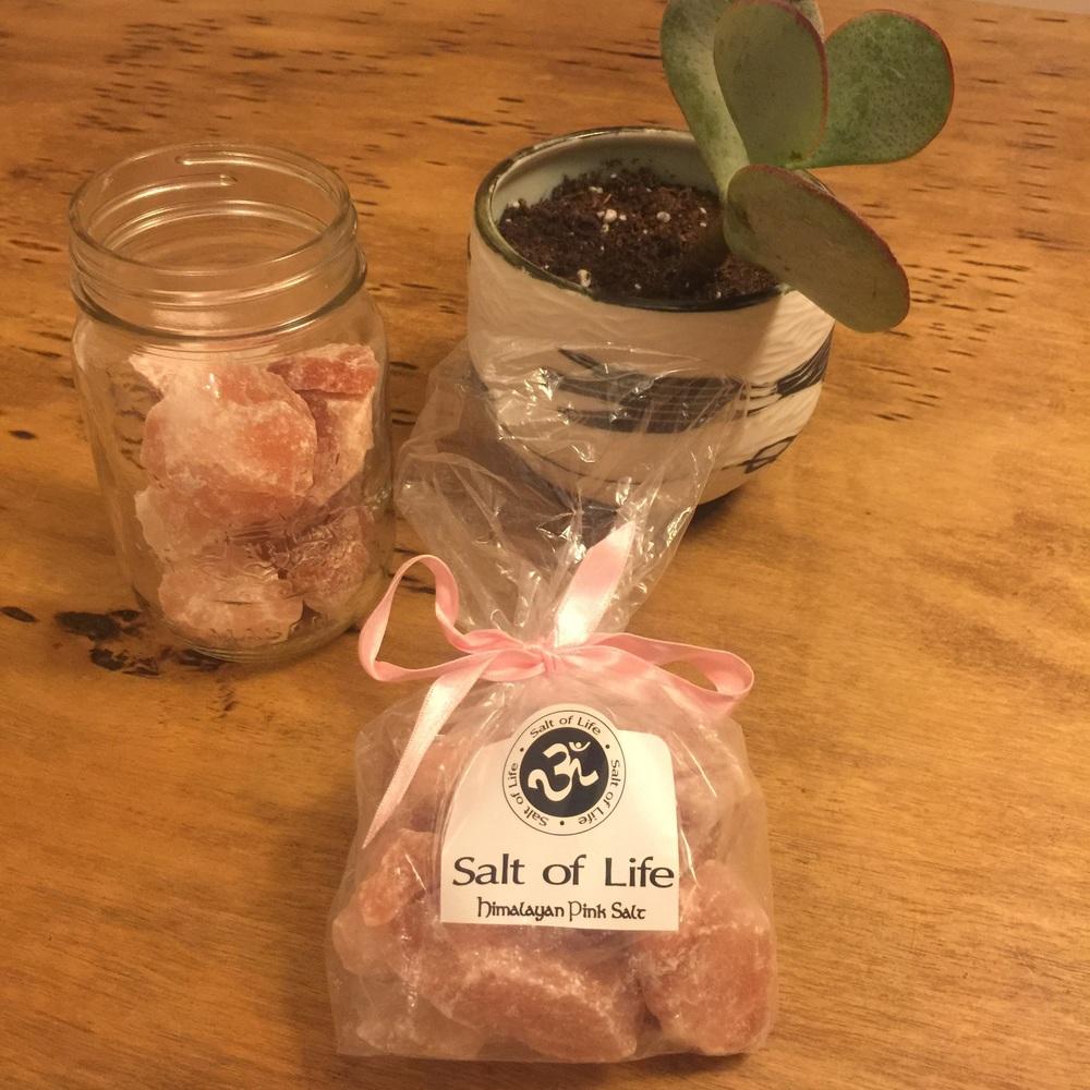 ...salt of life Himalyan pink salt rocks