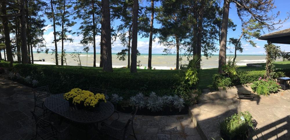 The site of the wedding photos, a family friend's gorgeous home on Lake Huron.