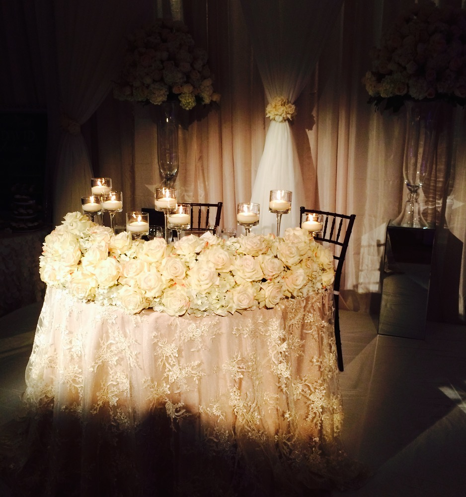 The head table, for two.