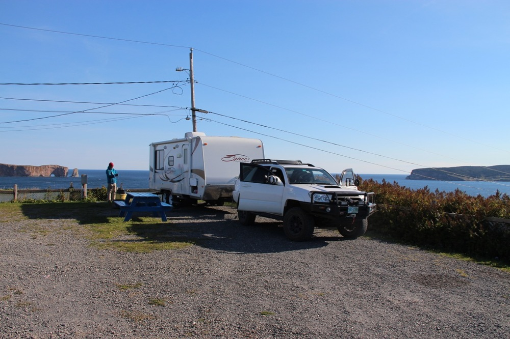 The most incredible site on the property, facing Rocher du Percé and Île Bonaventure. Stunning views.