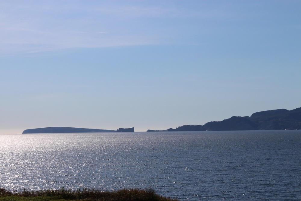 A view of Percé Rock, from the Gaspé side as we continued on
