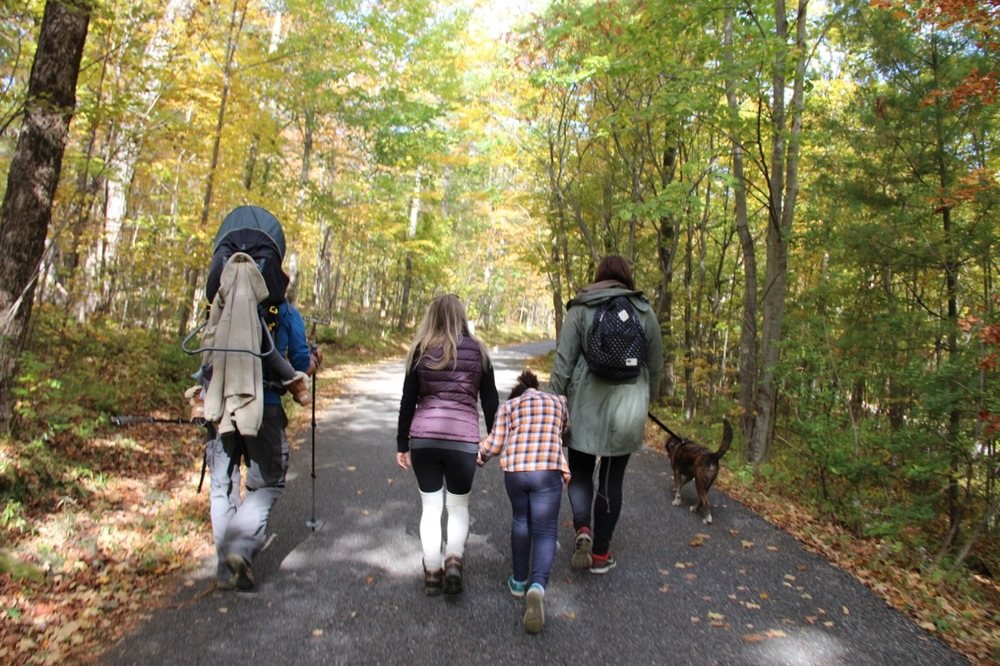 Hiking up Mt. Philo in Charlotte, VT, just outside Burlington, with friends.