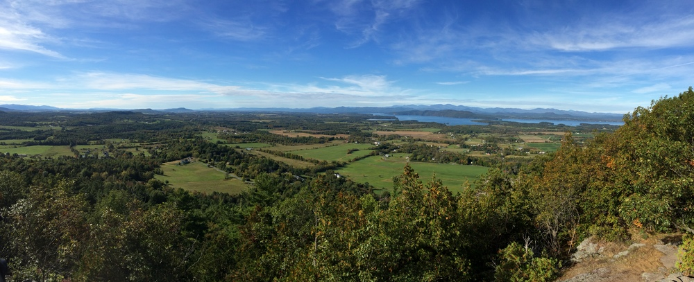View from the top of Mt. Philo