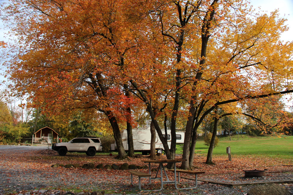 Our campsite at the KOA in Elizabethtown/KOA