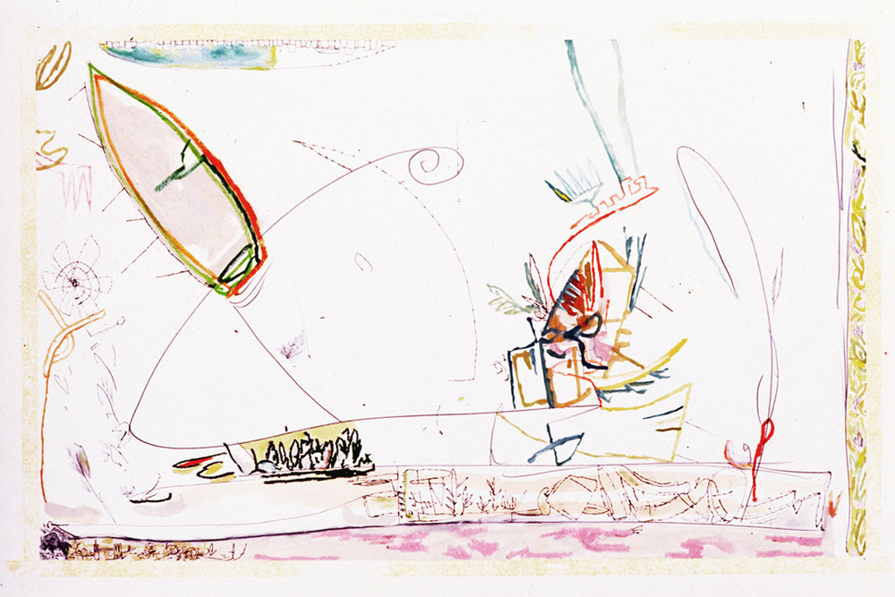 """""""Bison"""" Mixed Media on Paper 26"""" x 40"""" (66 x 101 cm) Signed"""