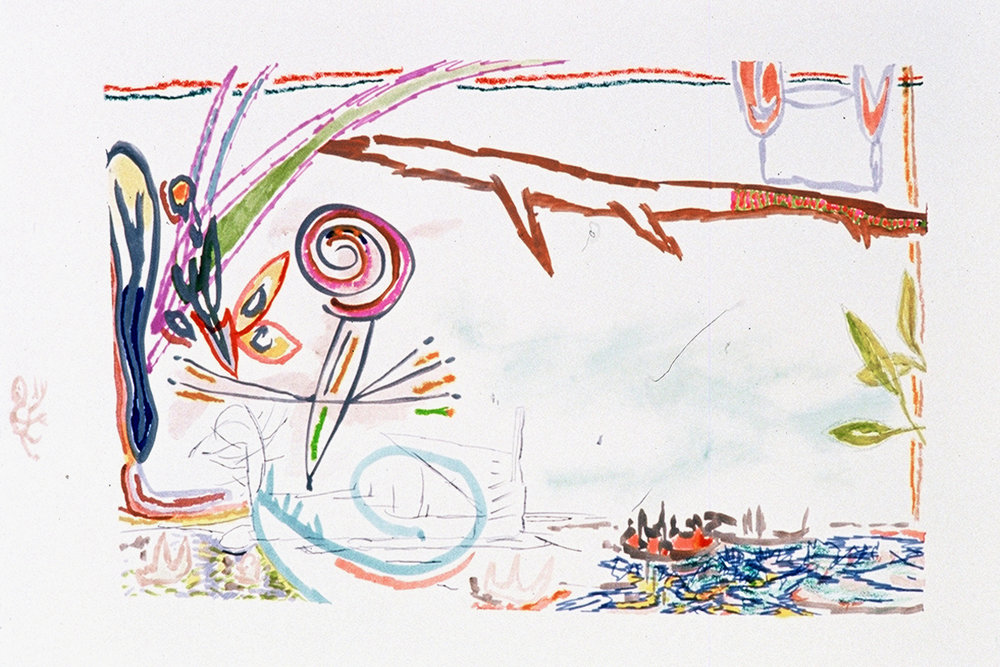 """""""Symbiotic"""" Mixed Media on Paper 25"""" x 38"""" (63.5 x 96.5 cm) Signed"""