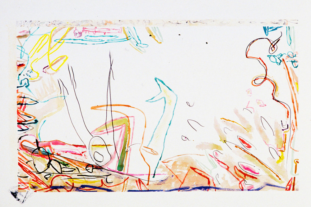 """""""Mugger"""" Mixed Media on Paper 22"""" x 30"""" (58 x 76 cm) Signed"""
