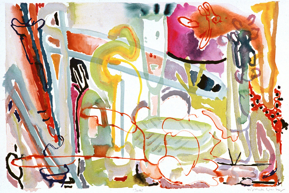 """""""Jack"""" Mixed Media on Paper 22"""" x 30"""" (58 x 76 cm) Signed"""