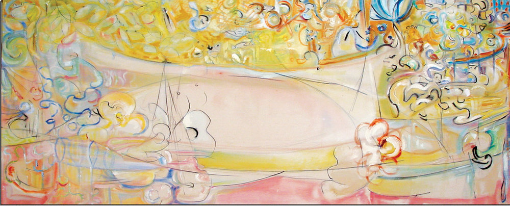 """Haven"" Mixed Media on Canvas 72"" x 108"" (183 x 274 cm) Private Collection"