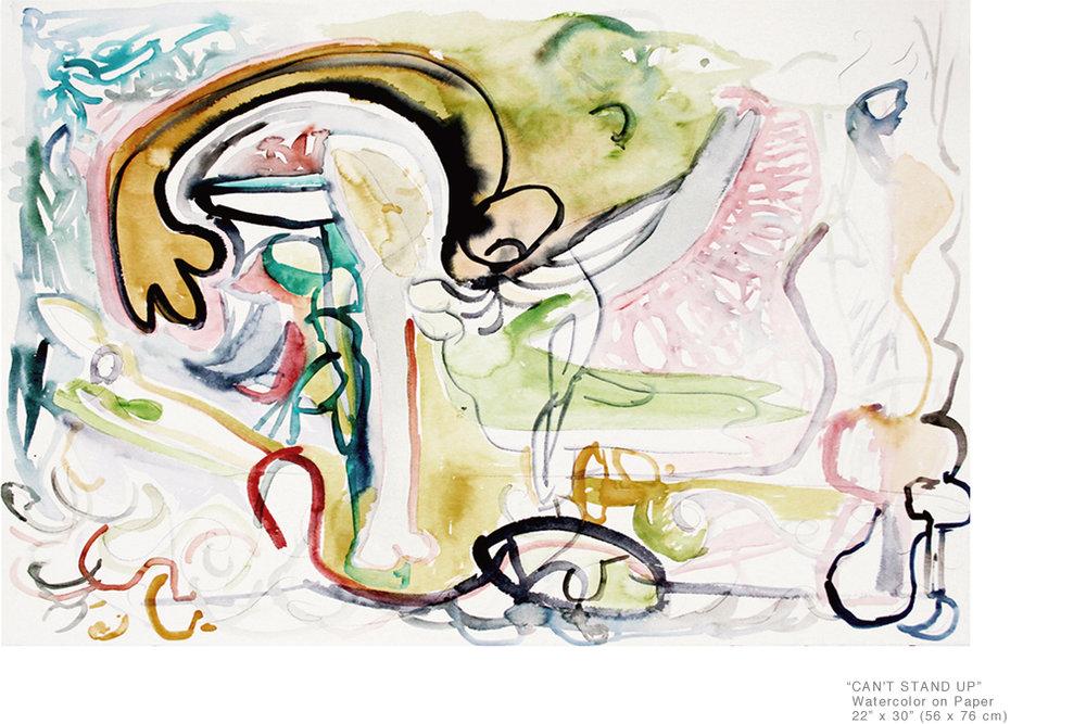 Can'tStandUp_WatercolorOnPaper_22x30inches_JoeGinsberg_ContemporaryArtInNYC_001.jpg