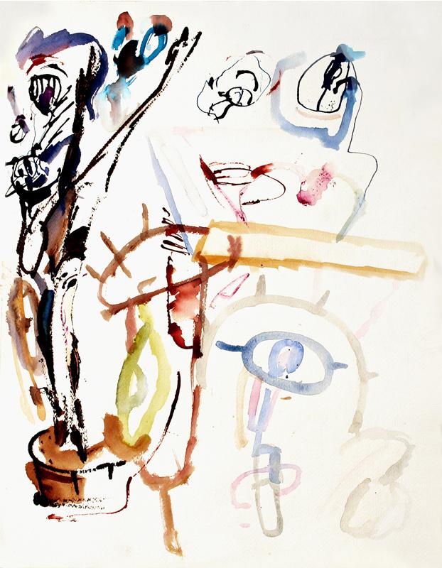 """One Eye"" Mixed Media on Paper 23"" x 18"" (59 x 45 cm)"