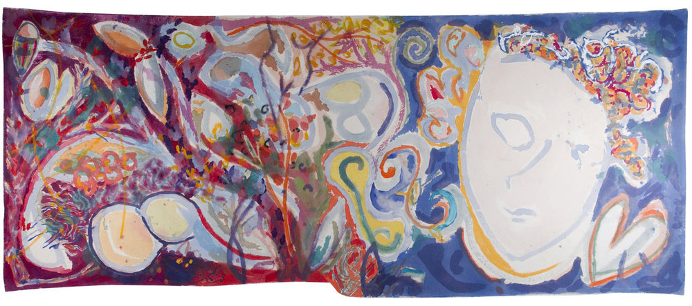 """Malibu"" Mixed Media on Canvas 31 x 91 inches (78.7 x 231 cm)"