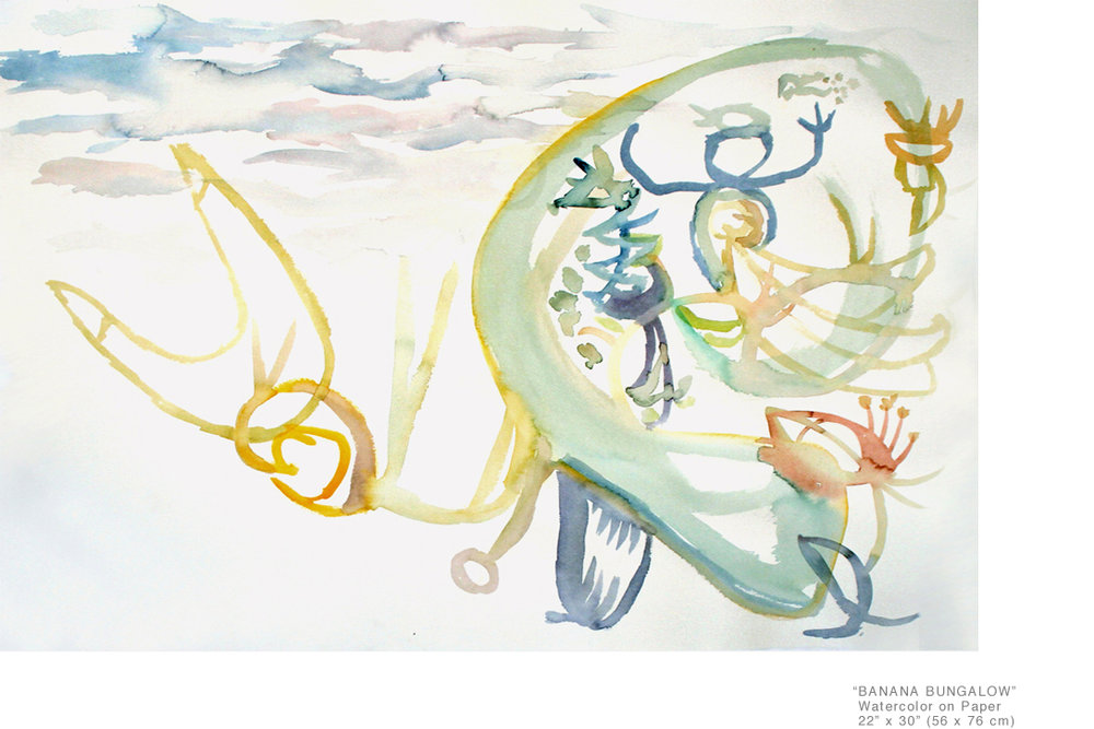 BananaBungalow_WatercolorOnPaper_22.5x30inches_JoeGinsberg_ExperimentationInTheArts_001.jpg