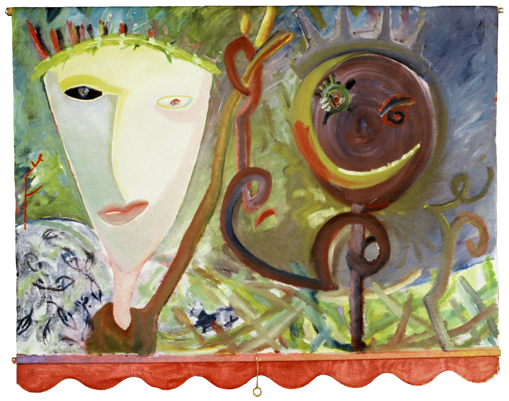 LOVE IN THE SHADE  Oil on Vinyl 51 x 68 inches (130 x 173 cm) Private Collection