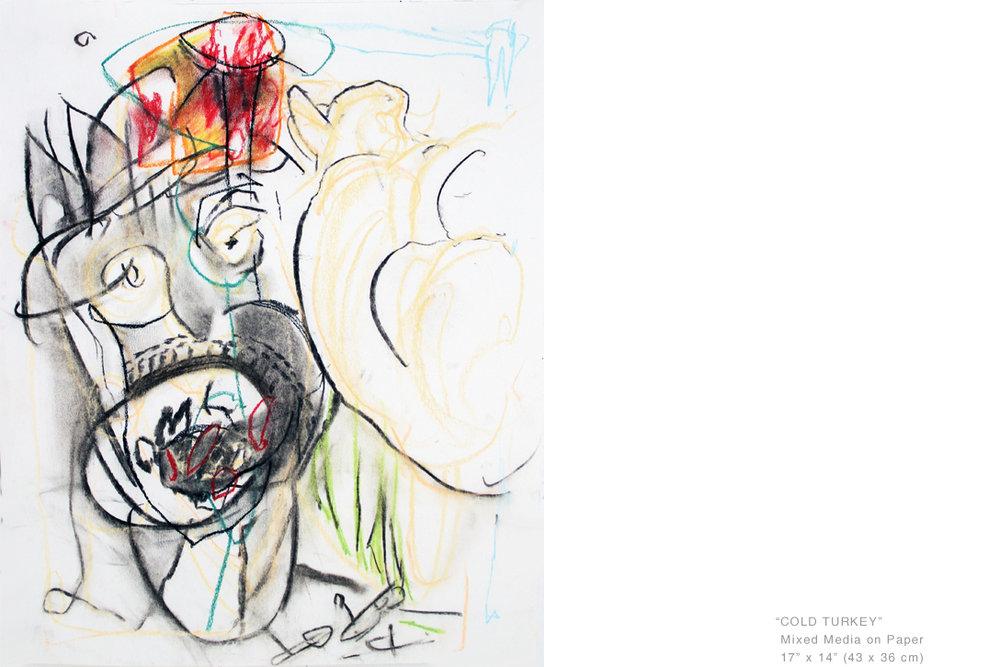 ColdTurkeyMixedMediaOnPaper17x14inches - Joe Ginsberg_ArtCollectorsArt.jpg