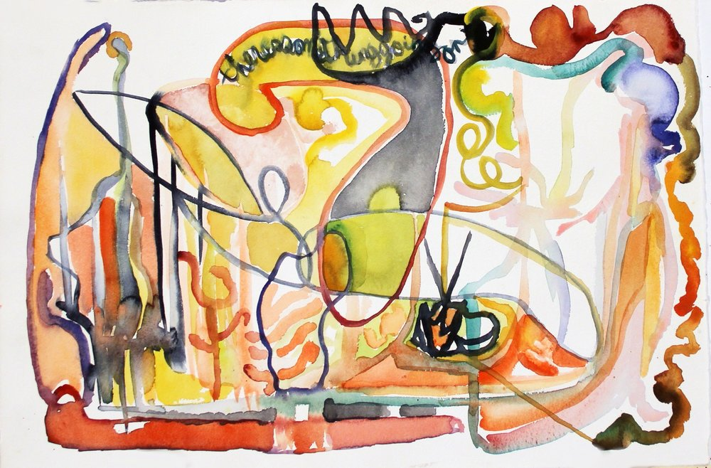 THE KING'S SON  Watercolor on Paper 14 x 22 inches (36 x 56 cm)