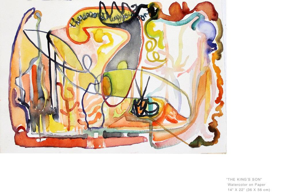 TheKingsSonWatercolorOnPaper14x22inches-AclaimedNYArtists-JoeGinsberg.jpg