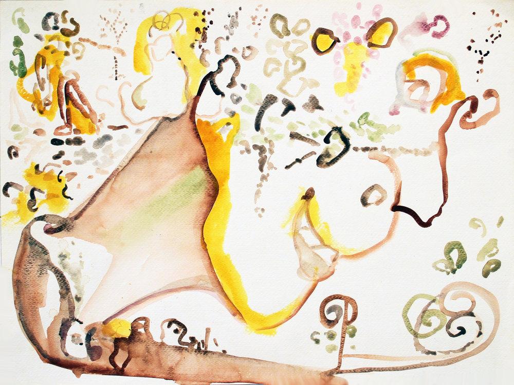AMBROSIA Watercolor on Paper 18 x 24 inches (46 x 61 cm)