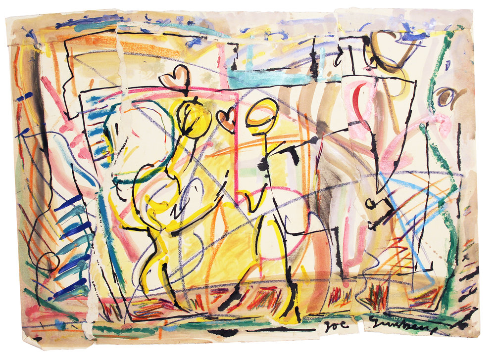 SPRUNG Mixed Media on Paper 23 x 30 inches (58 x 76 cm)