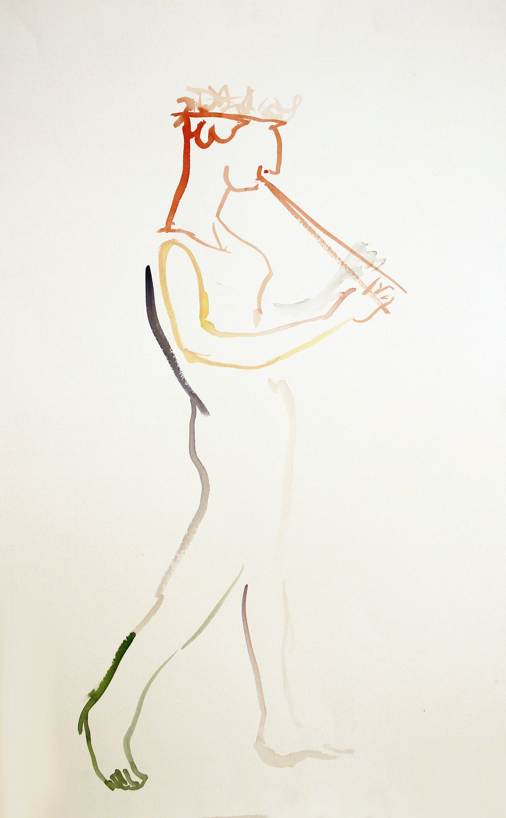 CELEBRATION Watercolor on Paper 30 x 22 inches (76 x 56 cm)
