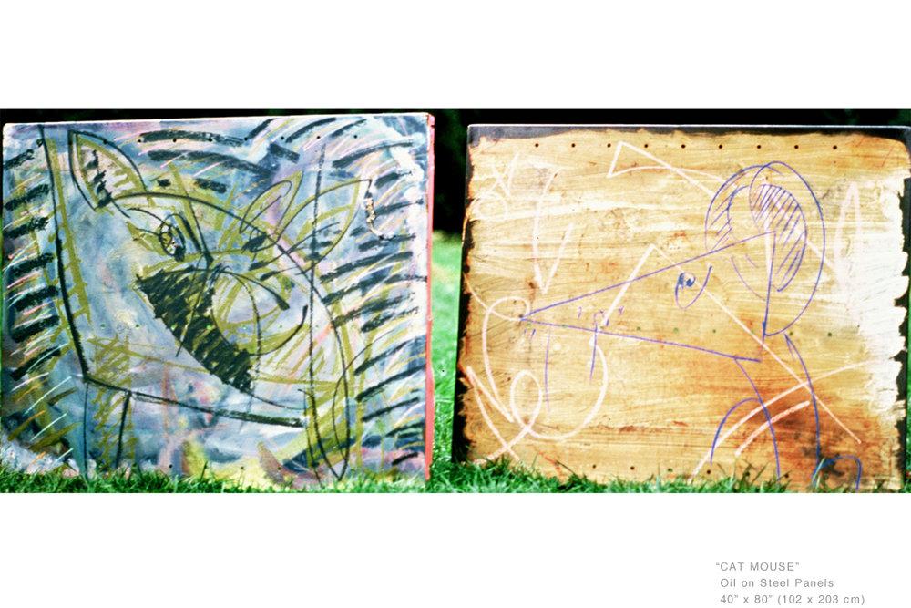 CatMouseOilOnSteelPanels40x80inches-ArtCollecting-JoeGinsberg.jpg