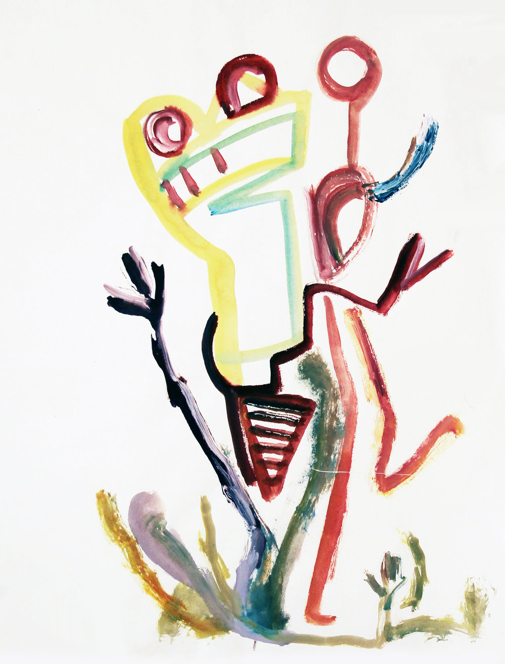 LEAP YEAR Watercolor on Paper 18 x 13 inches (46 x 33 cm)