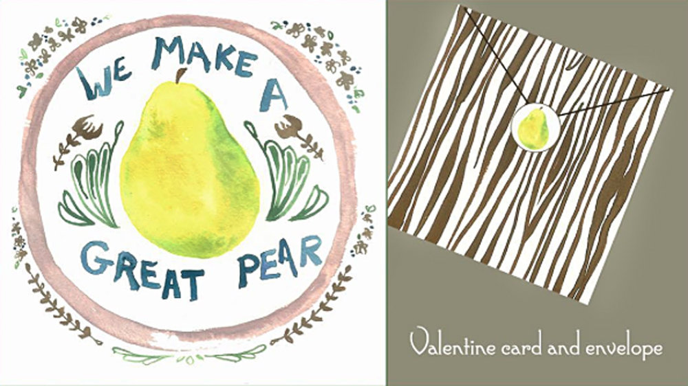 """We Make A Great Pear"" Greeting Card"