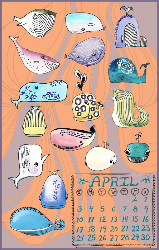 Whale Calendar Page