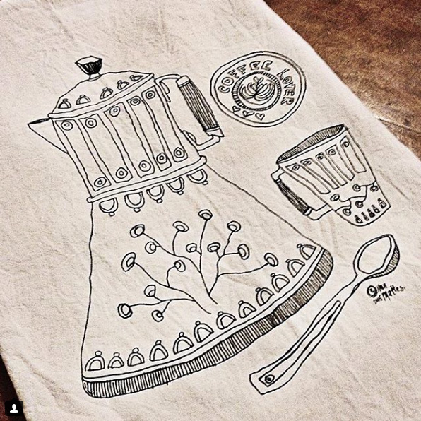 Coffee Tea Towel