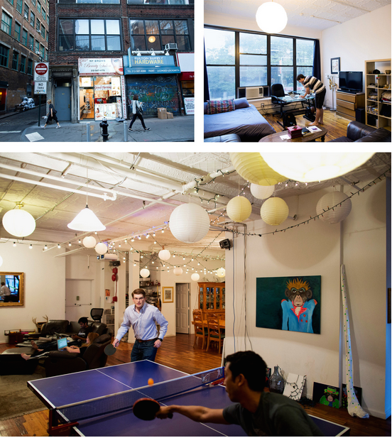 Examples of Co-Living environments in New York (Brian Harkin, New York Times)