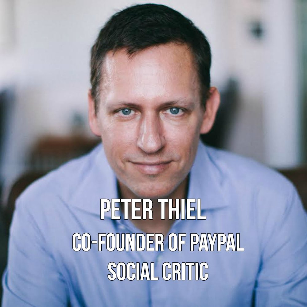 Peter Thiel is the co-founder of Paypal and has a net worth of $2.2 billion.  A visionary tech pioneer, he is also an outside investor in Facebook. Peter came out to friends in 2003, but now openly identifies as gay. According to some people, his openness about his sexuality has played an integral part in his general commitment to changing the norms of venture capital investment. Source: Wikipedia, Peter Thiel
