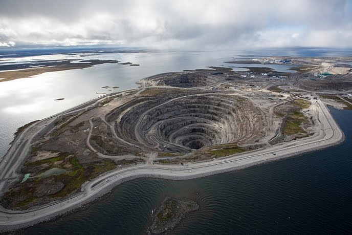 The Diavik mine, Canada. Source: Rio Tinto