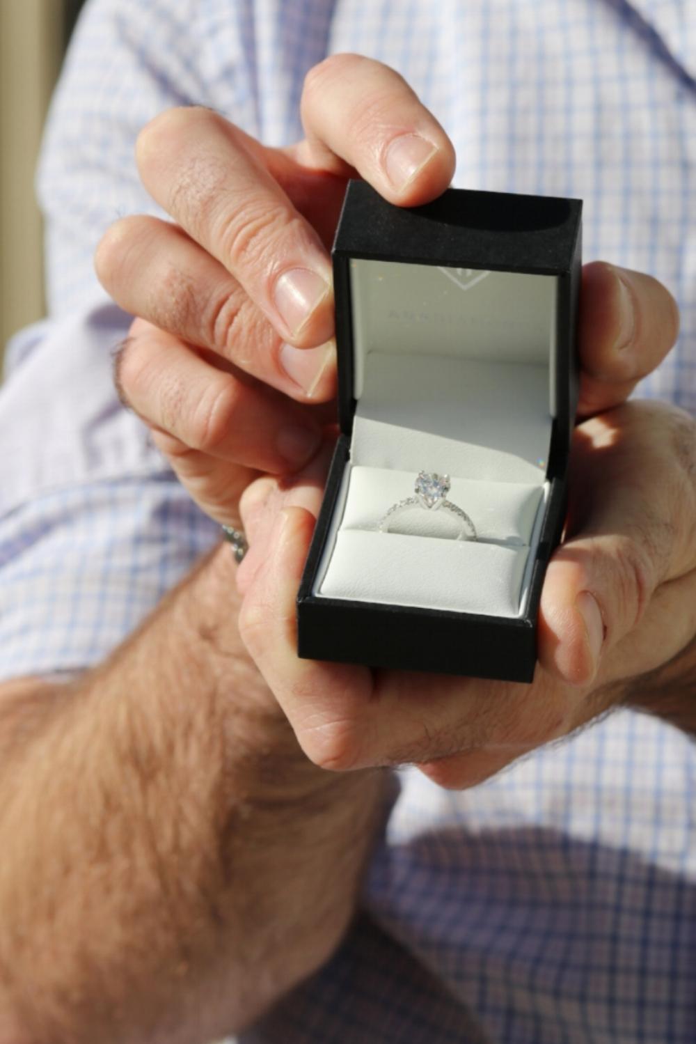 Ada Diamonds Pave Solitaire Proposal