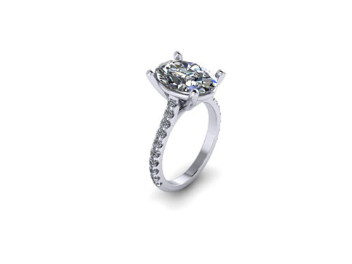 Updating Rendering Oval Pave Solitaire