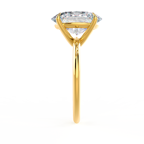 Yellow Gold Oval Solitaire Photo Rendering 2