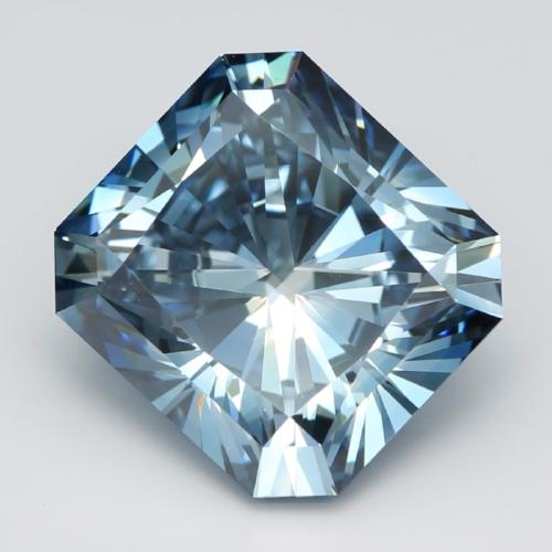 Fancy Deep Blue Radiant Cut Diamond