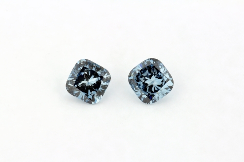 Fancy Blue Cushion Cut Diamonds